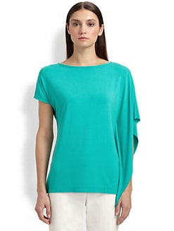 St. John - Asymmetric Stretch Jersey Top
