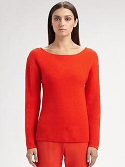 St. John - Micro Piqué Knit Wool Sweater