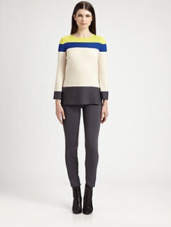 St. John - Colorblock Wool Sweater