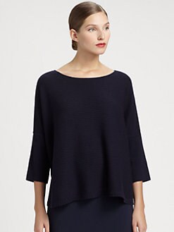 St. John - Cashmere Ottoman Knit Pullover