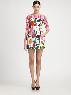 Moschino - Floral-Print Cotton-Blend Dress