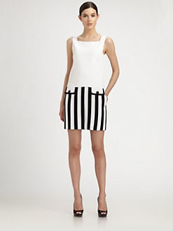 Moschino - Striped-Skirt Dress
