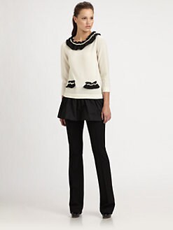 Moschino - Pearl-Trimmed Sweater