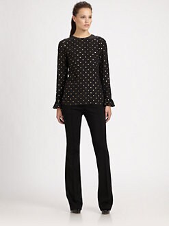 Moschino - Long-Sleeve Silk Blouse