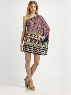 M Missoni - One-Shoulder Mini Dress