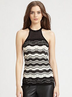 M Missoni - Zigzag Striped Racerback Tank