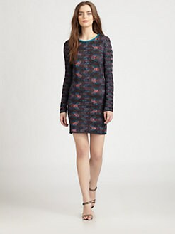 M Missoni - Jersey-Backed Textured Knit Dress