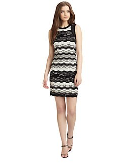 M Missoni - Zigzag Stripe Knit Dress