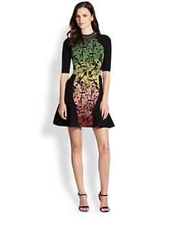 M Missoni - Brocade-Detail Knit Dress