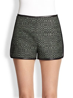 M Missoni - Mixed-Media Shorts