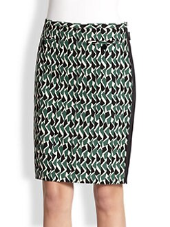 M Missoni - Mixed-Media Mosaic Skirt