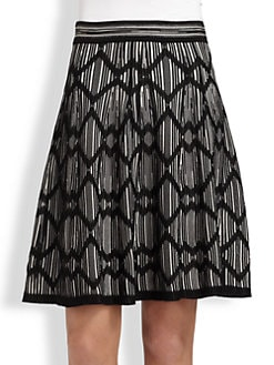M Missoni - Lattice-Stripe Skirt