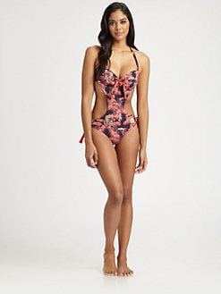 M Missoni - One-Piece Palm-Print Monokini Swimsuit