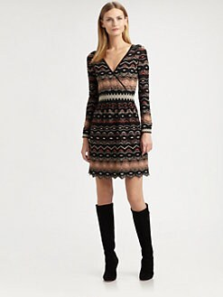 M Missoni - Wrap-Front Knit Dress