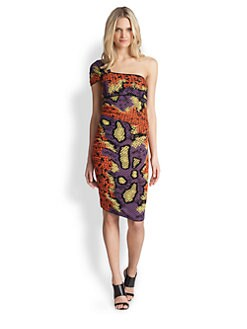 M Missoni - One-Shoulder Python Dress