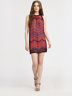 M Missoni - Zigzag Pleated Knit Dress