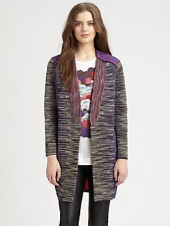 M Missoni - Pieced Space-Dyed Knit Jacket