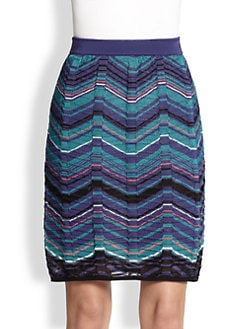 M Missoni - Bias Plaid Stripe Skirt