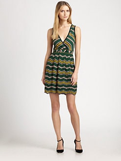 M Missoni - Zigzag V-Neck Dress