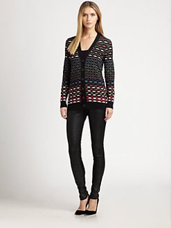 M Missoni - Diamond-Stripe Cardigan
