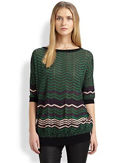 M Missoni - Zigzag Colorblock Top