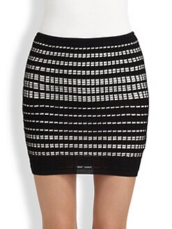 M Missoni - Plaid-Stitch Mini Tube Skirt