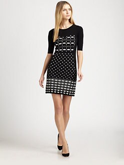 M Missoni - Diamond-Stripe Knit Dress