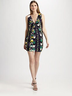 M Missoni - Zigzag Reversible Horseshoe Dress