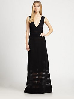 M Missoni - Rib-Stitch V-Neck Maxi Dress