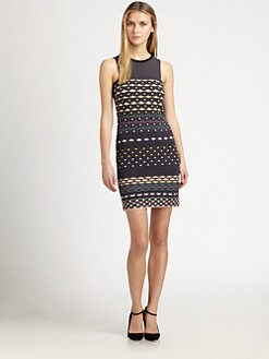 M Missoni - Diamond-Stripe Sleeveless Dress