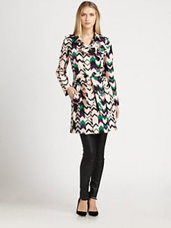 M Missoni - Silk Zigzag Trenchcoat