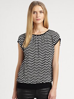 M Missoni - Bold Zigzag Wedge Top