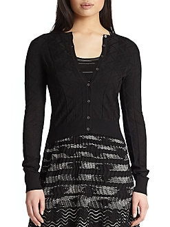 M Missoni - Basic Cropped Cardigan