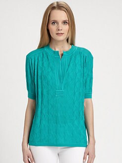 M Missoni - Wave-Knit Top