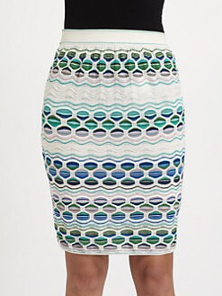 M Missoni - Pucker Wave Stripe Skirt