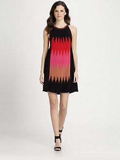 M Missoni - Horizon Flame-Stripe Knit Dress