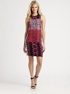 M Missoni - Hibiscus-Print Intarsia Dress