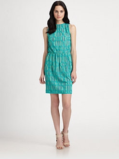 M Missoni - Lattice-Stripe Dress