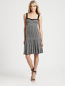 M Missoni - Zigzag Dot-Stripe Dress