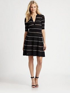 M Missoni - Collared Knit Dress