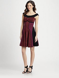 M Missoni - Horizon Micro-Stripe Knit Dress