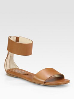 Kors Michael Kors - Ava Leather Ankle Strap Sandals