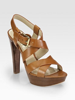 Kors Michael Kors - Belle Leather Platform Sandals