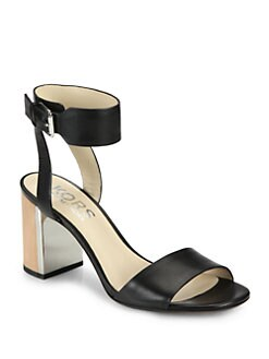 Kors Michael Kors - Lexa Leather Block Heel Sandals