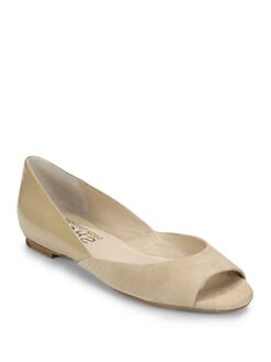 Kors Michael Kors - Tullah Suede & Patent Leather Flats