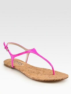 Kors Michael Kors - Joni Patent Leather T-Strap Sandals