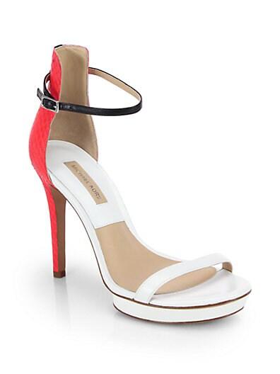 Sale alerts for Michael Kors Doris Snakeskin & Leather Platform Sandals - Covvet
