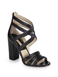 Michael Kors - Preston Leather Gladiator Sandals