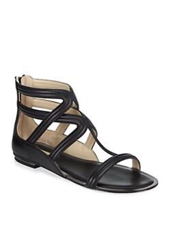 Michael Kors - Hunter Leather Gladiator Sandals