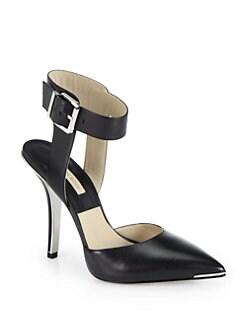 Michael Kors - Alanna Leather Ankle-Strap Pumps